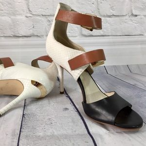 Michael Michael Kors color block ankle strap heel